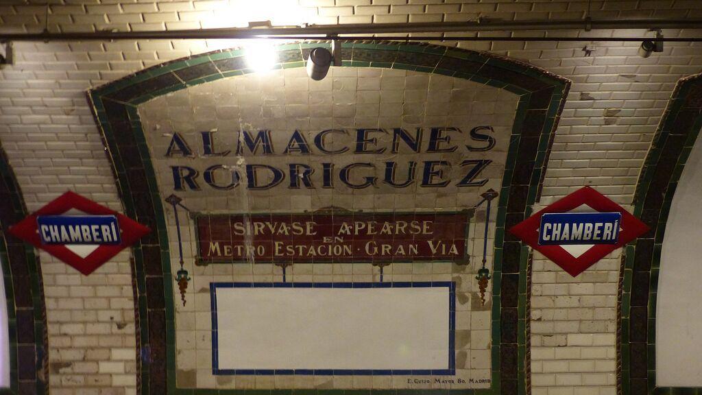 La estación de Chamberí, reconvertida actualmente en museo.