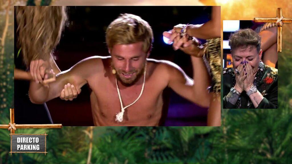 Tom Brusse sufre un fuerte ataque de nervios en la primera parte de la final de 'Supervivientes'