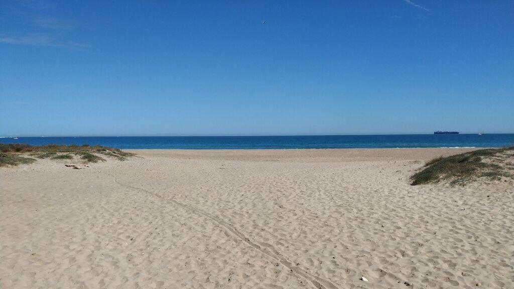La playa de El Saler, junto a la Albufera.