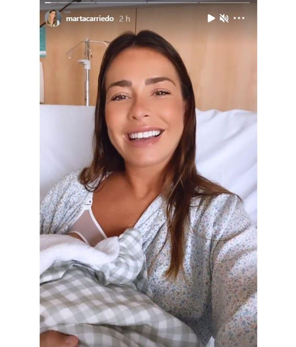 Marta Carriedo da a luz a su primer hijo con Raúl Vidal