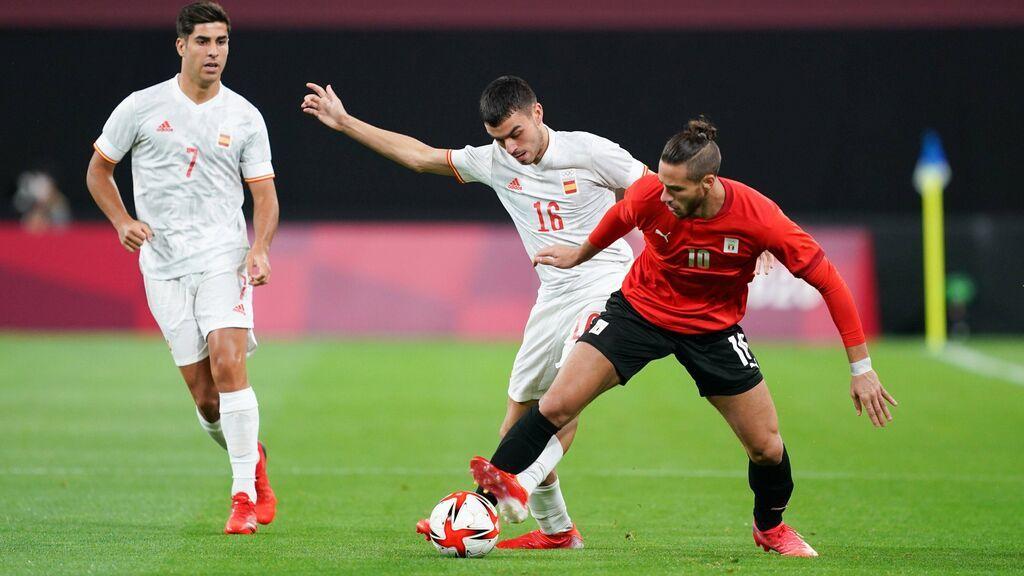 España debuta en los Juegos de Tokio con empate ante Egipto: Mingueza y Ceballos acabaron lesionados