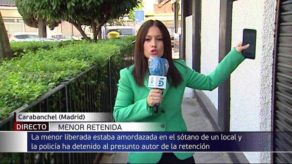 Liberan a una adolescente de 15 años secuestrada y amordazada en el sótano de un local en Madrid