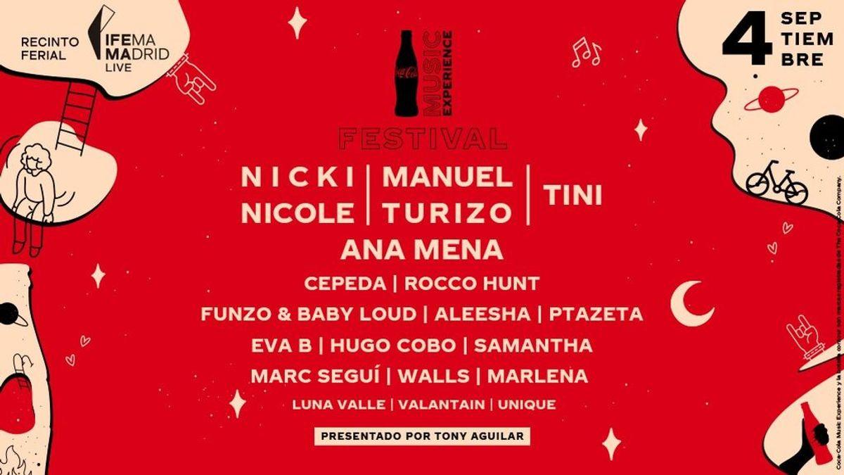 ¡Cartel cerrado! Estos son todos los artistas que nos harán bailar en el Festival Coca-Cola Music Experience