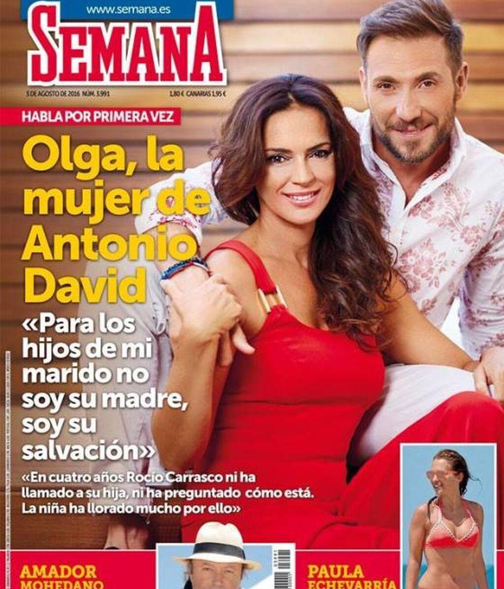 Olga Moreno, en una de sus portadas con Antonio David