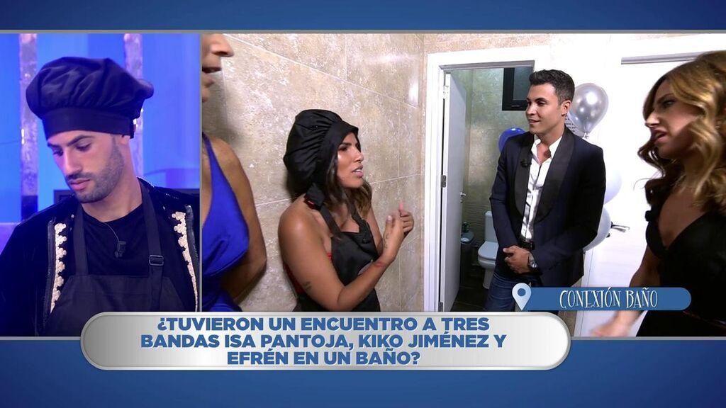 El encuentro de Isa Pantoja y Kiko Jiménez en el baño