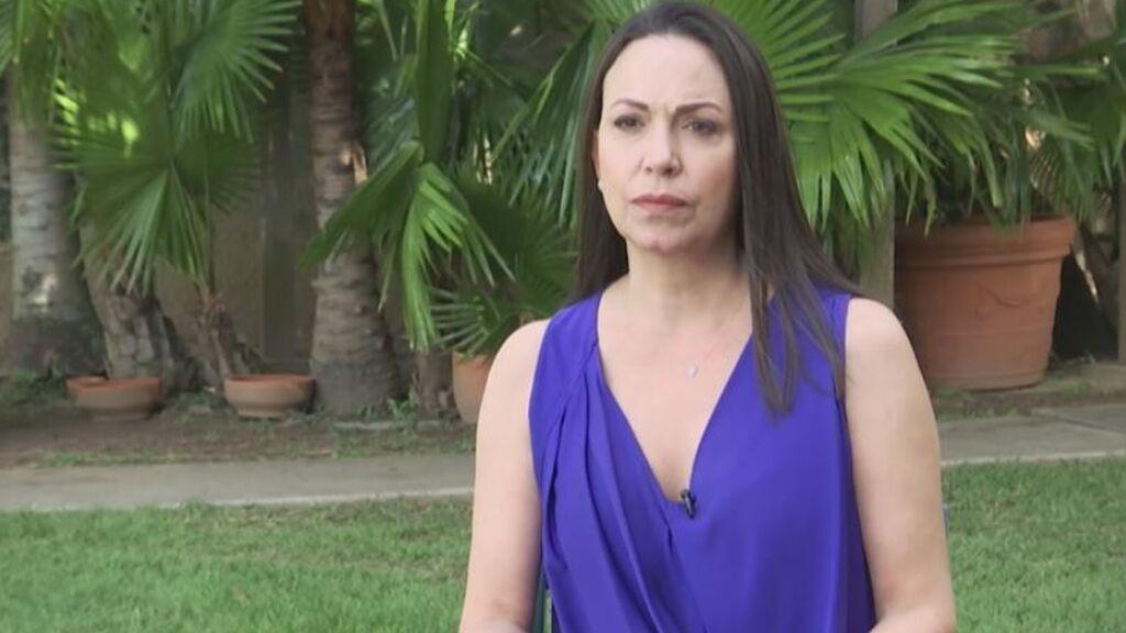 """Maria Corina Machado: """"El gobierno de Sánchez no quiere lo mismo que el pueblo de Venezuela"""""""