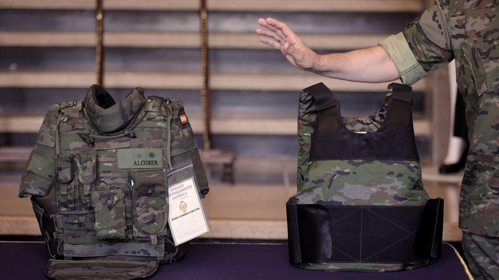 Las militares tendrán en septiembre un chaleco antifragmentos adaptado a su fisionomía