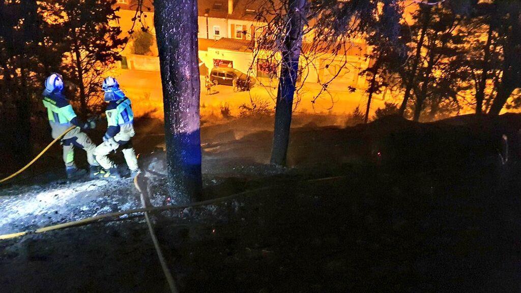 Buscan al pirómano que provocó un incendio en el parque de El Castillo, una joya ecológica de Burgos