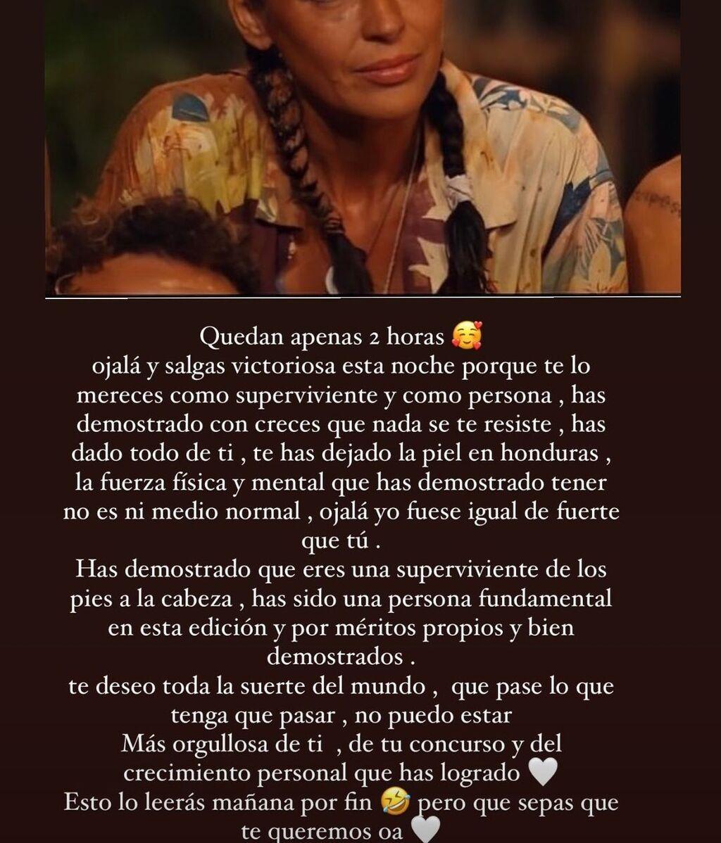 El mensaje de Rocío Flores