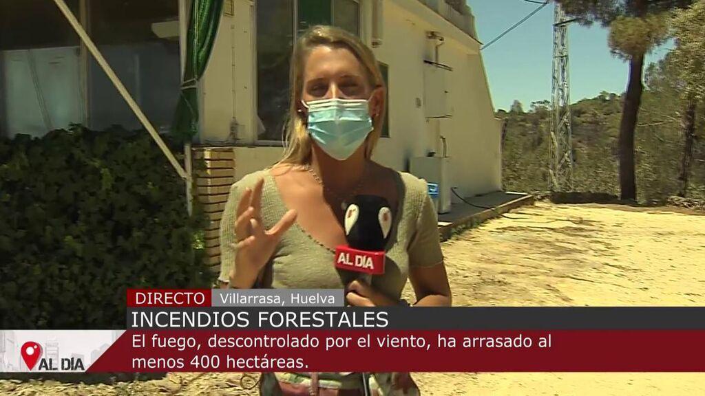 El incendio Villarrasa, Huelva, calcina 600 hectáreas