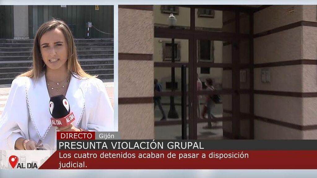 Pasan a disposición judicial los cuatro detenidos por agredir sexualmente a dos chicas en un hotel de Gijón