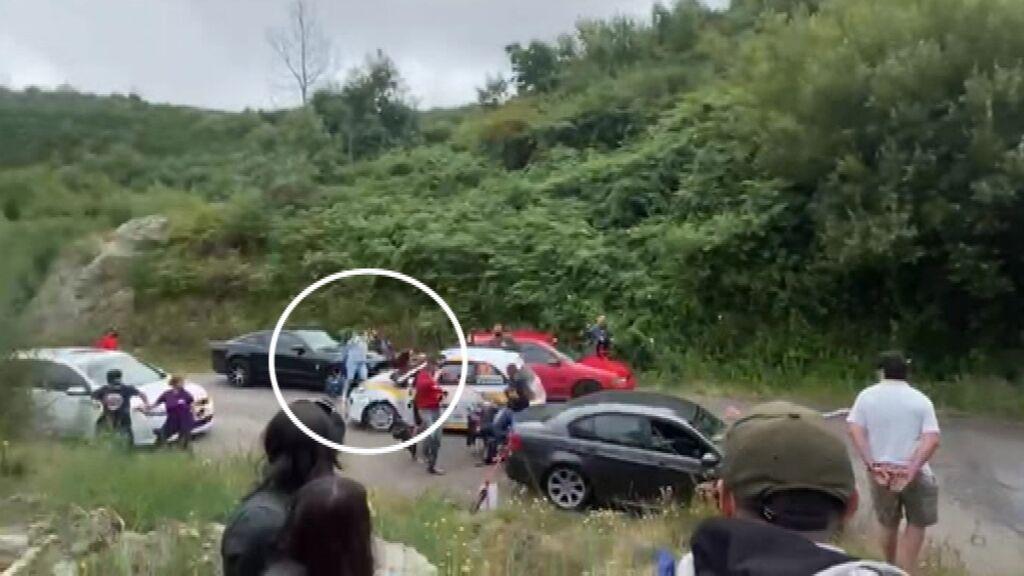 Una mujer es atropellada en el rally Rías Baixas en Vigo