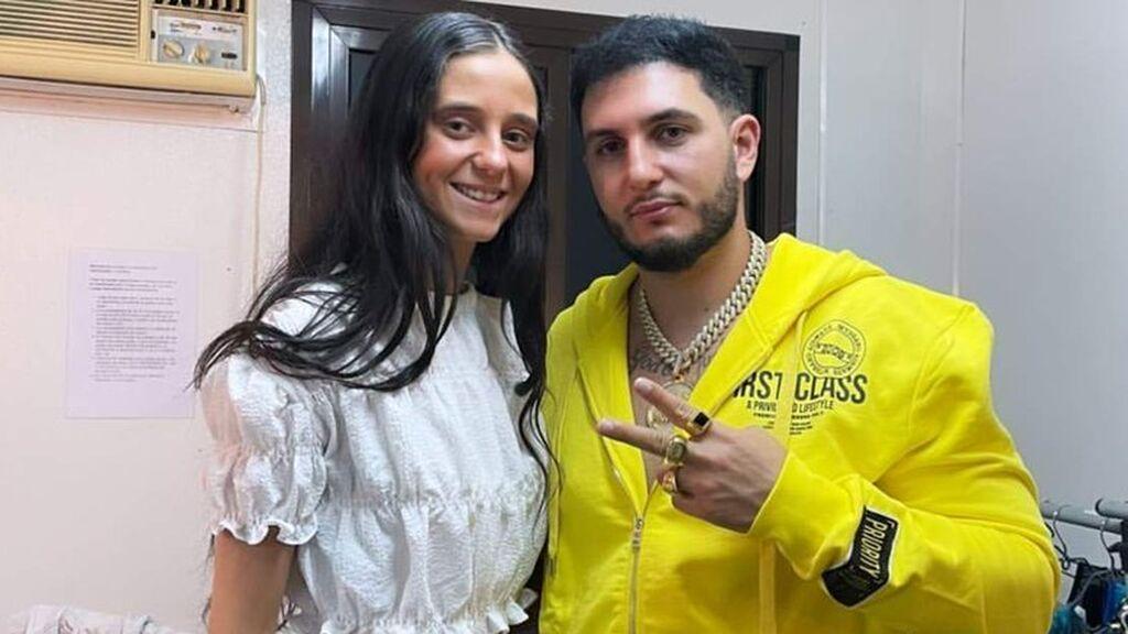 Omar Montes y Victoria Federica dándolo todo