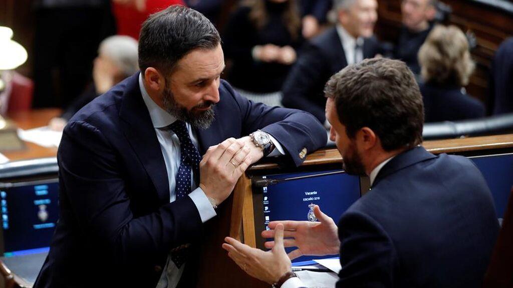 La abstención del PP en la reprobación de Abascal provoca una crisis total con Vox, y fuertes críticas de Madrid