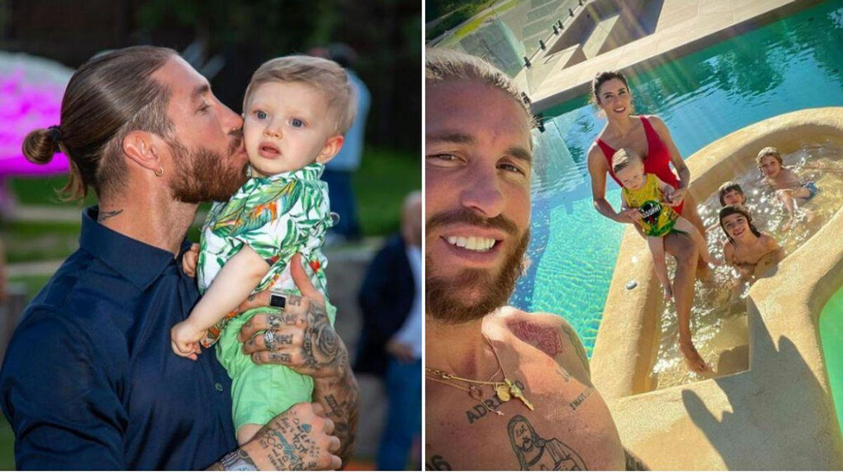 """La emotiva felicitación de cumpleaños de Sergio Ramos a su hijo Adriano: """"Tenemos suerte de tenerte, de enseñarte"""""""