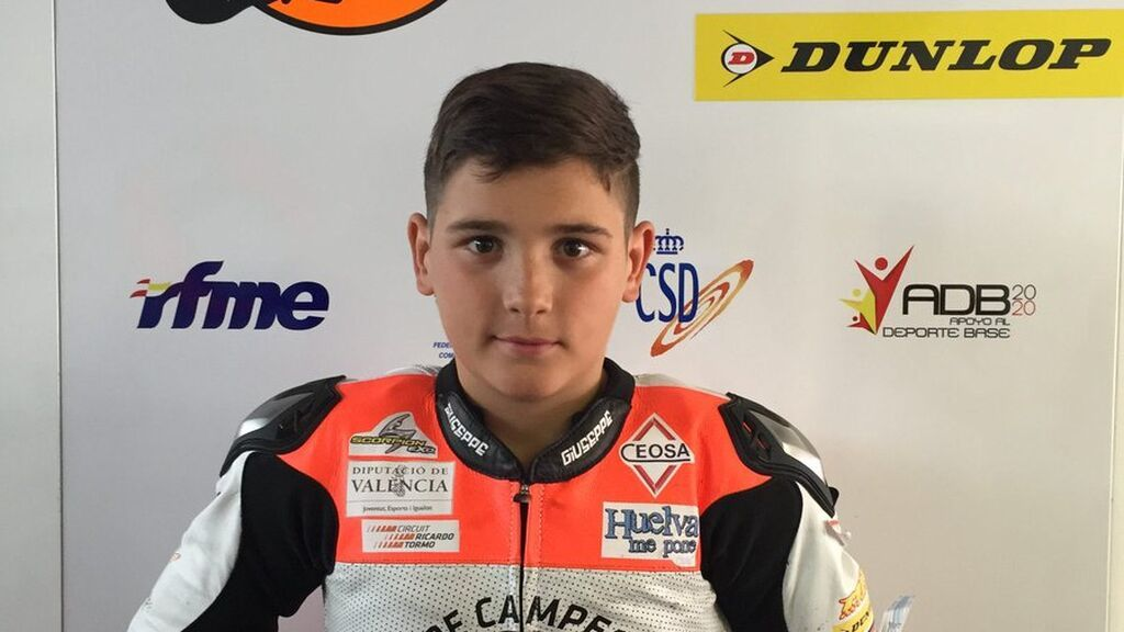 Hugo Millán, piloto onubense de 14 años, falleció en la carrera de la Talent Cup en un complicado accidente