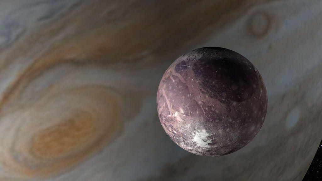 Hallan evidencia de vapor de agua en la atmósfera de Ganímedes, la luna de Júpiter