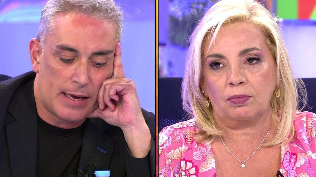 La tremenda llegada de Carmen Borrego a 'Sálvame': de enfrentarse con Kiko Hernández a enterarse en directo de que cocinará con él