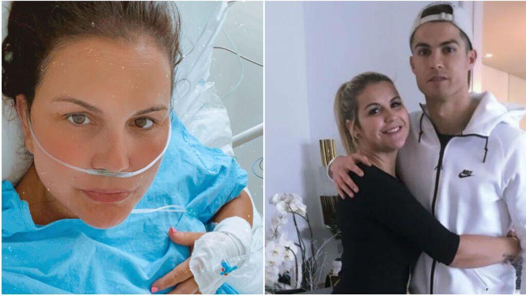 """Katia Aveiro, hermana de CR7, de ser negacionista a estar ingresada por Covid: """"Tuve un empeoramiento fruto del maldito virus"""""""