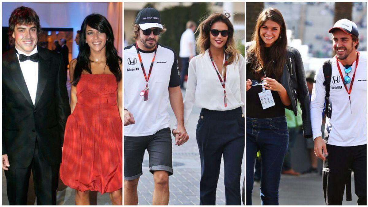 El podium amoroso de Fernando Alonso: de su matrimonio con Raquel del Rosario y su noviazgo de dos años con Lara Álvarez  a su relación más estable con Linda Morselli.