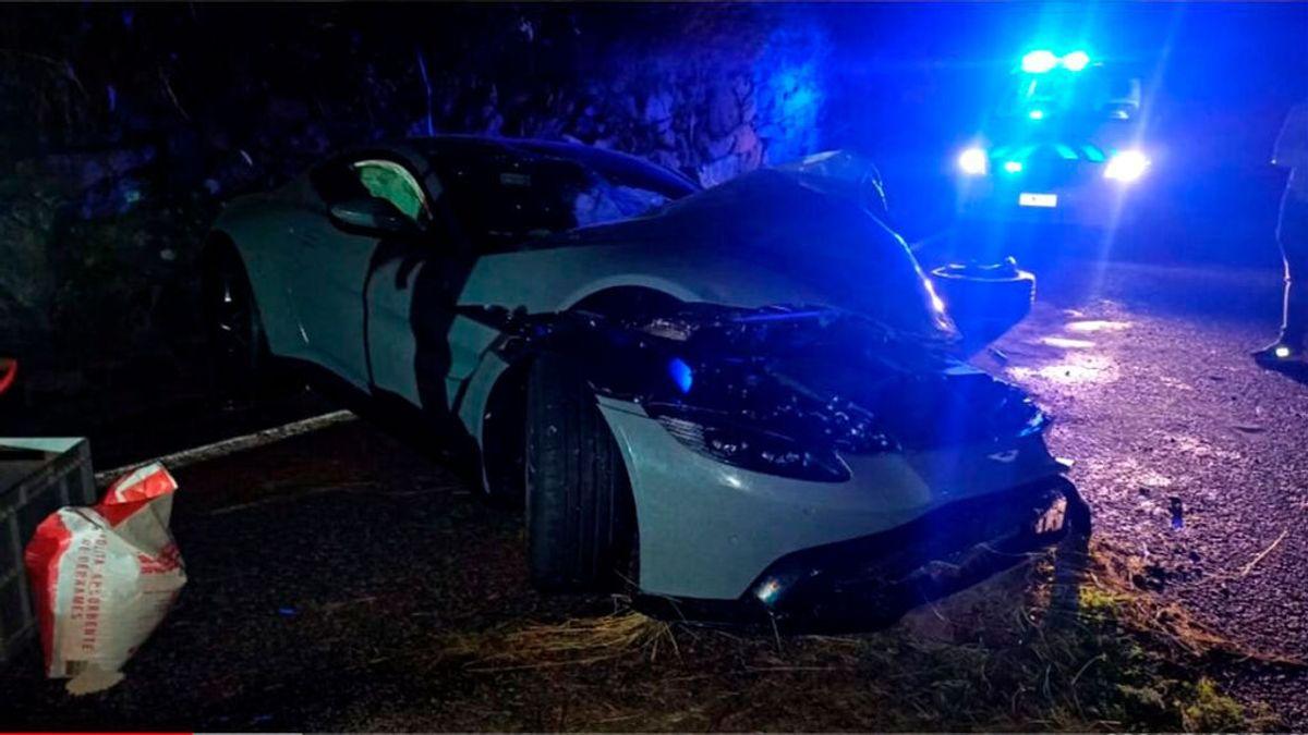 El youtuber Salva destroza en Andorra su nuevo Aston Martin valorado en 200.000 euros