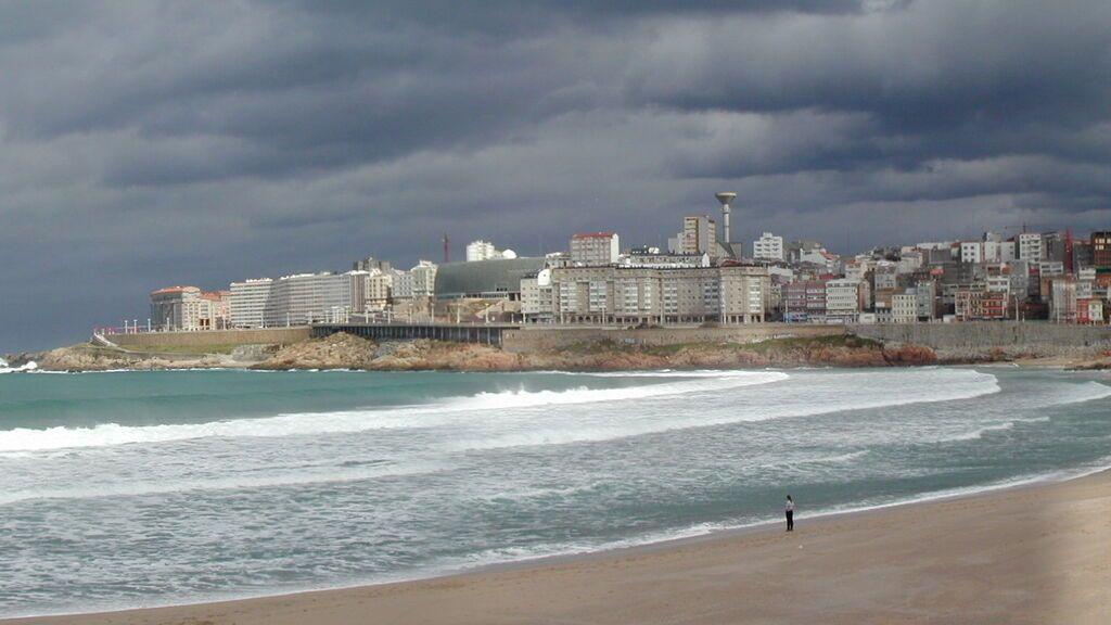 Playa de Orzán, en La Coruña.