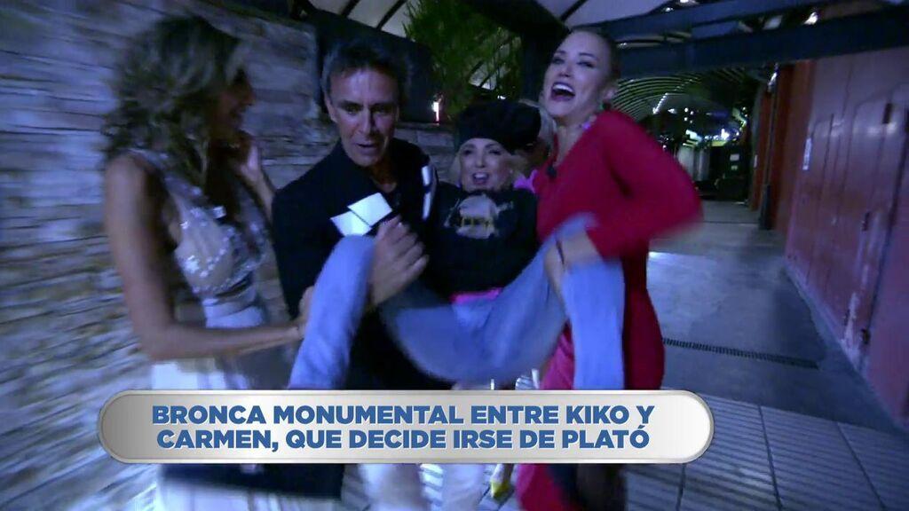 Carmen Borrego vuelve a plató en volandas