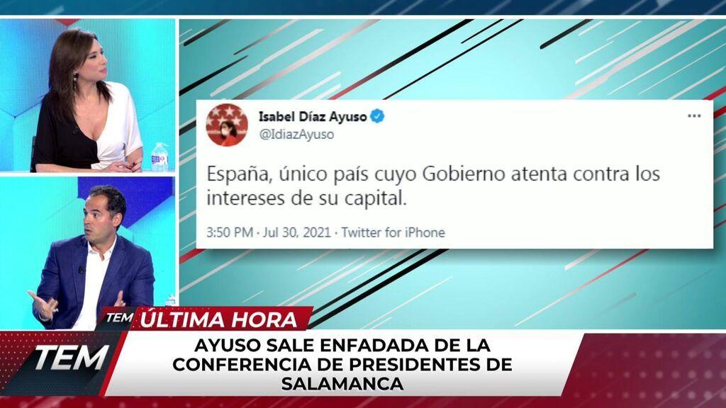 """Ignacio Aguado carga contra Isabel Díaz Ayuso: """"Utiliza a Madrid y a los madrileños como rehenes de su estrategia"""""""