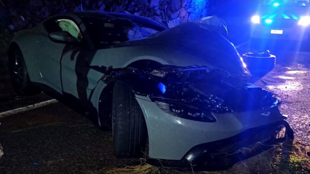 El youtuber malagueño Salva Verdugo destroza su Aston Martin de 160.000 euros comprado hace dos semanas