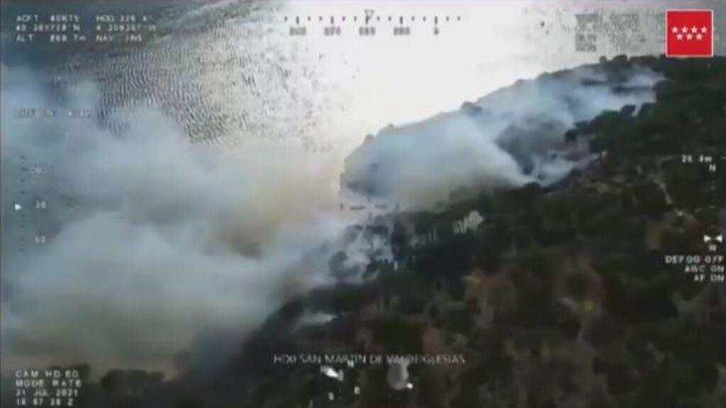 Incendio en el pantano de San Juan