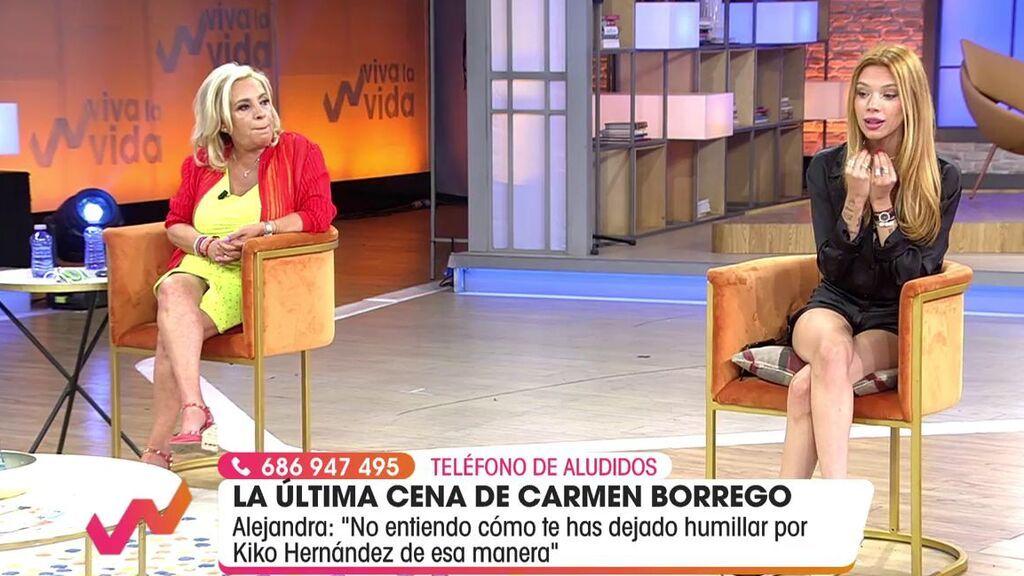 Alejandra Rubio critica la actitud de su tía con Kiko H.