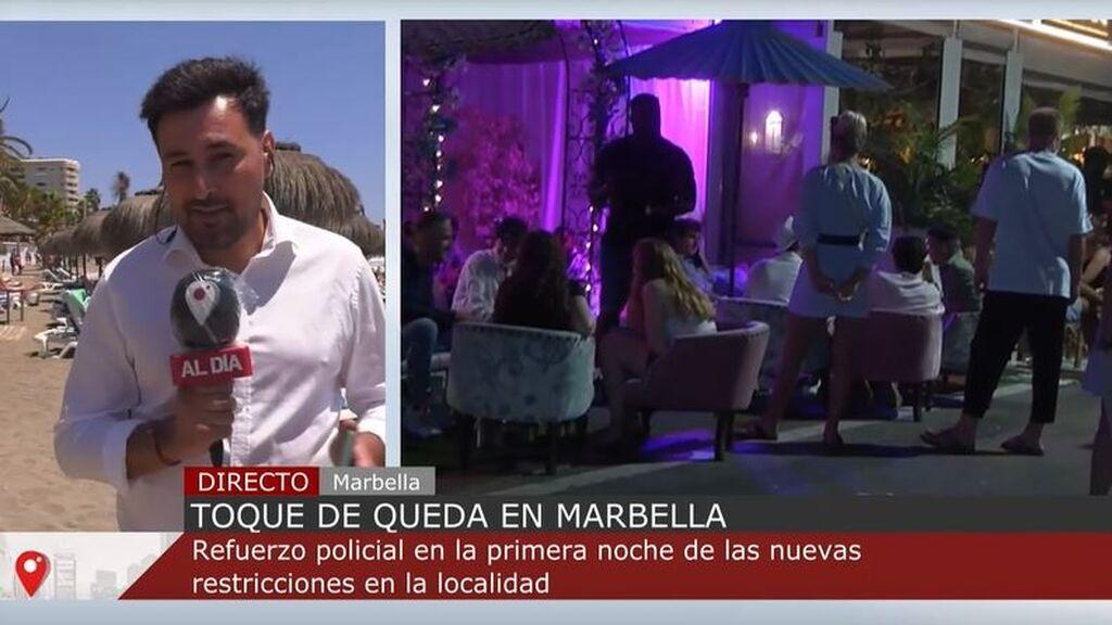 Primera noche de toque de queda en Marbella y Estepona con refuerzo policial incluido