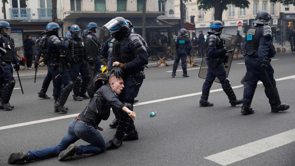 Protestas en Francia contra las restricciones contra el Covid