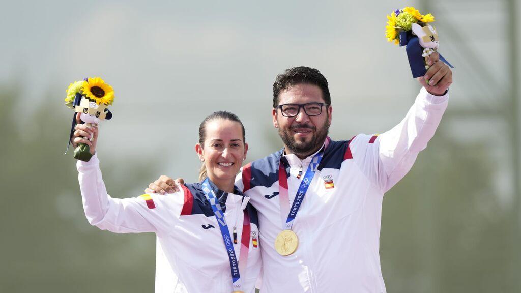 Fátima Gálvez y Alberto Fernández ganan la primera medalla de Oro para España en foso olímpico