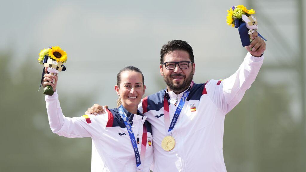 Fátima Gálvez y Alberto Fernández ganan la primera medalla de Oro para España en foso mixto olímpico