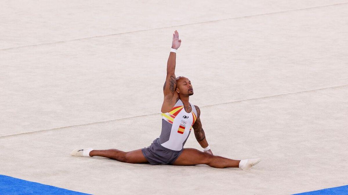 El gimnasta español Ray Zapata se lleva la plata en la final de suelo de los Juegos Olímpicos