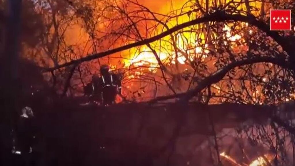 Estabilizan el incendio forestal del Pantano de San Juan de Madrid