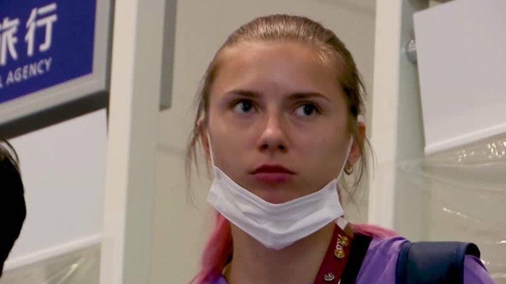 Krystsina Tsimanouskaya, atleta bielorrusa, denuncia que intentan sacarla de Tokio sin su permiso