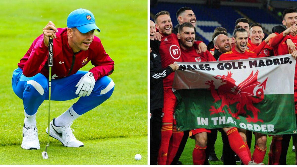 """El Barcelona se acuerda de la famosa bandera de Bale: """"Barça. Training Camp. Golf. En ese orden"""""""