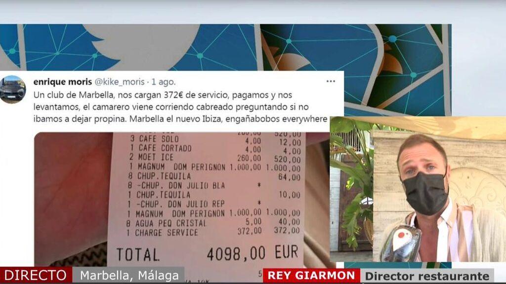"""Hablamos con el restaurante de la factura más viral: """"Los 372 euros de cargo por servicio no era obligatorio pagarlo"""""""