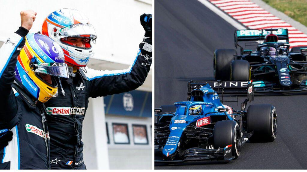 Fernando Alonso dio una 'masterclass' en Hungría: cuarto puesto, batalla frenética con Hamilton y ejemplo de compañerismo