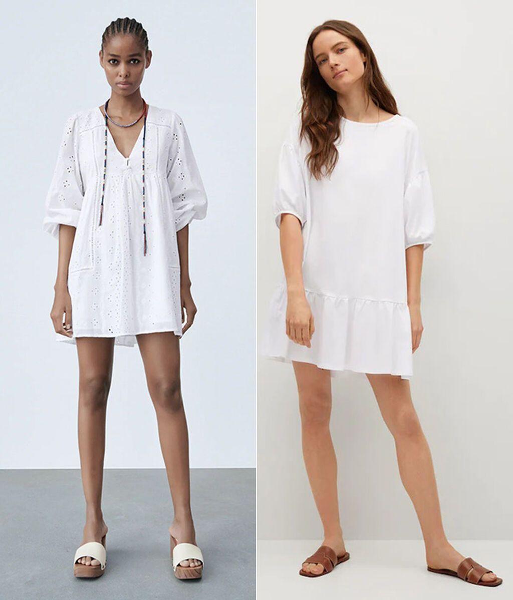 Vestidos de Zara y Mango