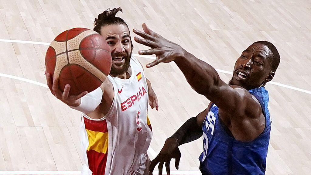 España no puede con EEUU pese a la exhibición de Ricky Rubio (81-95) y se despide de las medallas en Tokio