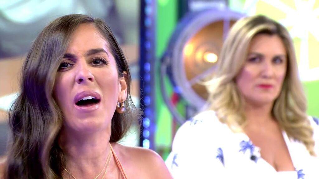 Anabel Pantoja, indignada en el plató de 'Sálvame'
