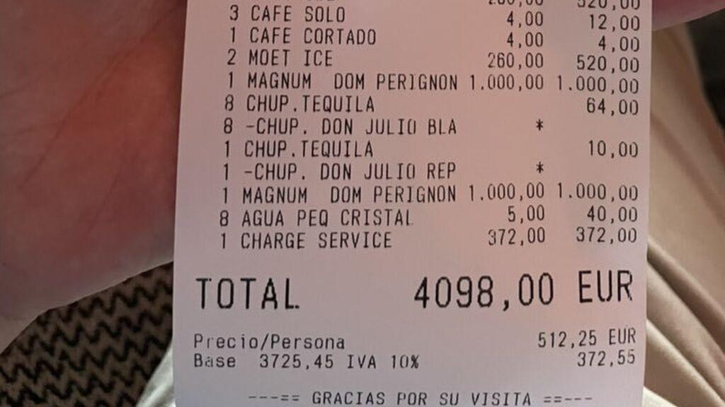 Se gasta 4.000 euros en un restaurante de Marbella y su queja por un comentario del camarero indigna a las redes