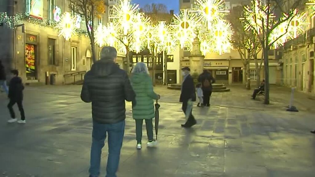 Carrera de luces de navidad en Galicia