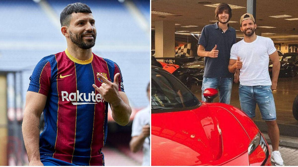 El Kun Agüero celebra su primera semana en Barcelona comprándose un Ferrari de 500.000 euros
