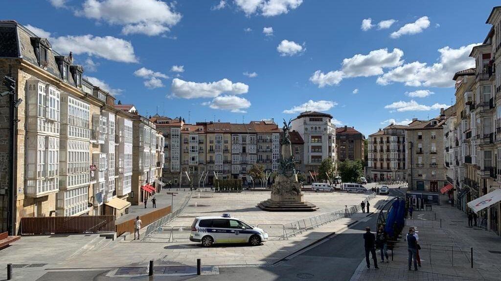 Vitoria cerrará por segundo año la plaza de la Virgen Blanca para evitar aglomeraciones durante las fiestas