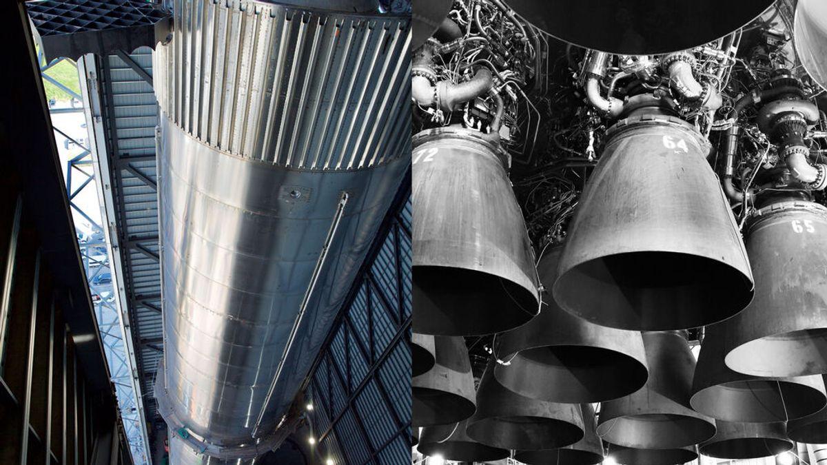 SpaceX muestra el cohete Super Heavy de su nave Starship