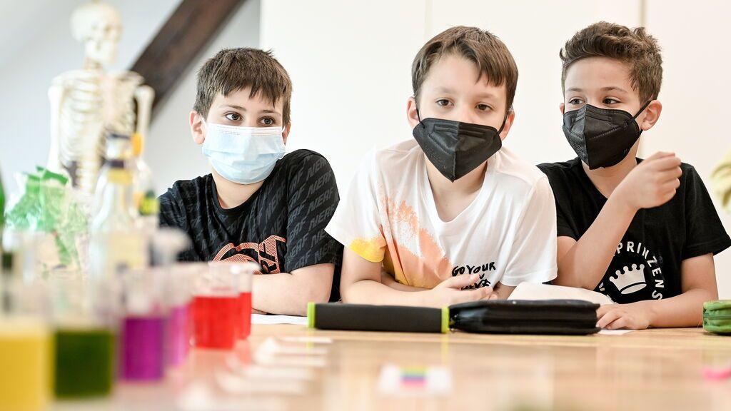 Niños en una escuela primaria de Alemania